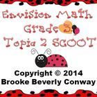Envisions Grade 3 Topic 3 SCOOT review game that reinforces rounding, estimating, communative and associative properties of addition, missing adden...