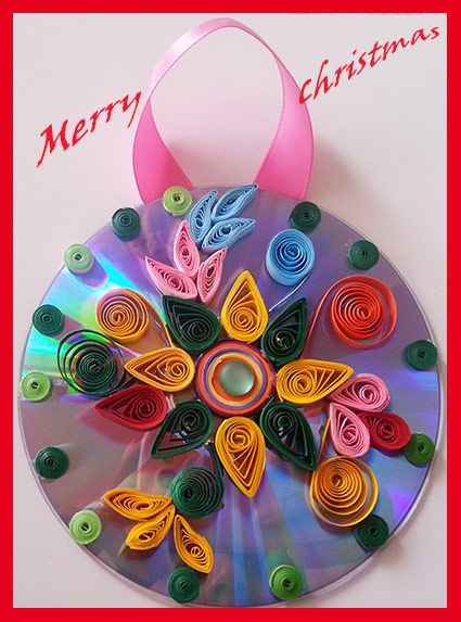 Decoration Idea for Christmas with Old Cds/Best out of Waste with Cd