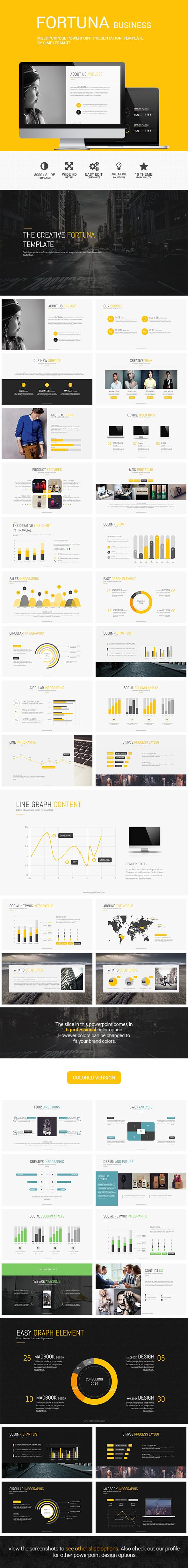 FORTUNA - Multipurpose Presentation Template - Business Powerpoint Templates.