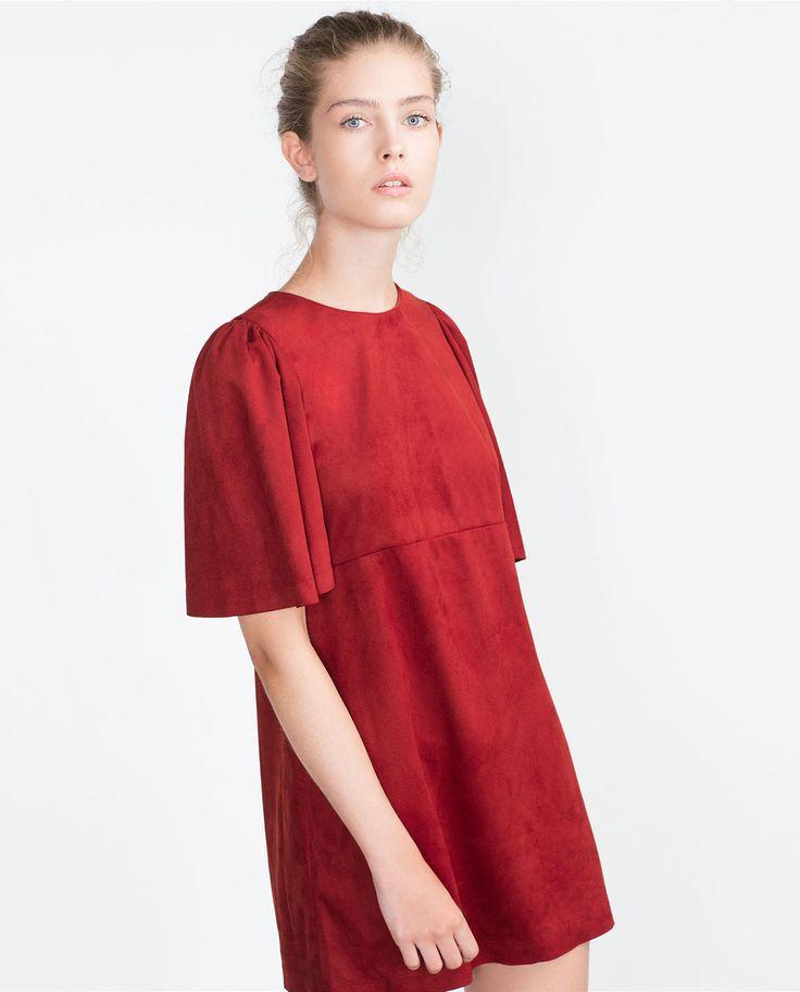 FAUX SUEDE DRESS-Dresses-TRF   ZARA United States