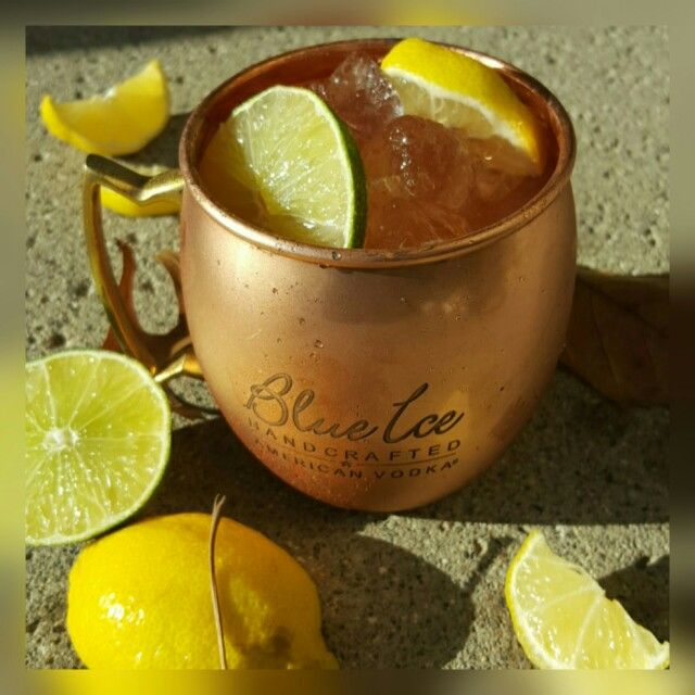 """""""Citrus Mule""""  My twist on the #classic Moscow Mule  #six8drinks #vodka #moscow  Ice shake 1/2 oz @blueicevodkausa, 1/2 oz orange rum, 1/2 oz bombay Sapphire, 1/2 oz limoncello liqueur, fresh lime juice strain over ice. Top with ginger beer ,garnish Lemon lime slices.  #cocktails #mule #liquor #alcohol  #drinks #alcohol #orange #gin #bombay #blueicevodka #blue #cruise #mixology #bartender #detroit #food #foodpic #instapic #yummy #beer #philippines #miami #mixologist #bar #rum #agave"""