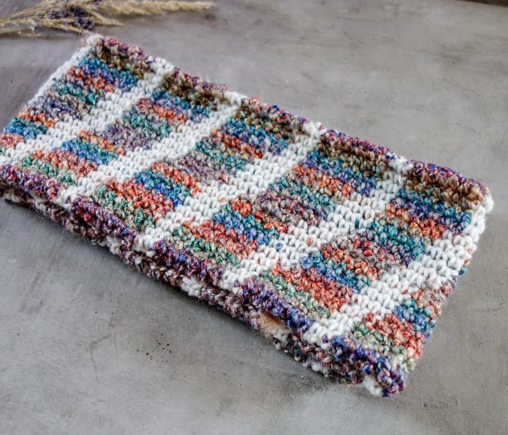 infinity scarf striped crochetmilie