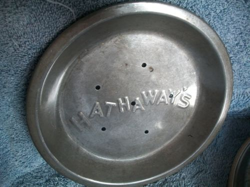 "PY O My Ice Box Pie Tin 8 3 4"" and Hathaway's Pie Tin 8"" with Venting Holes 