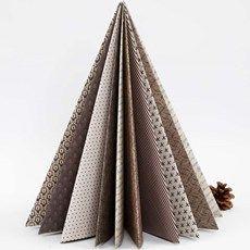 Foldet juletræ i designpapir fra Vivi Gade