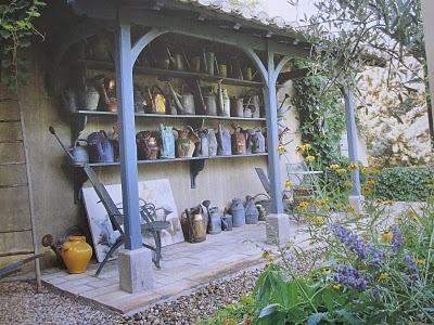 Joe Ruggiero Designer/ HGTV Host: Jean-Loup Daraux Inspires Garden Storage. #wateringcans