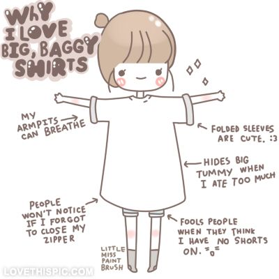 how to wear baggy shirts