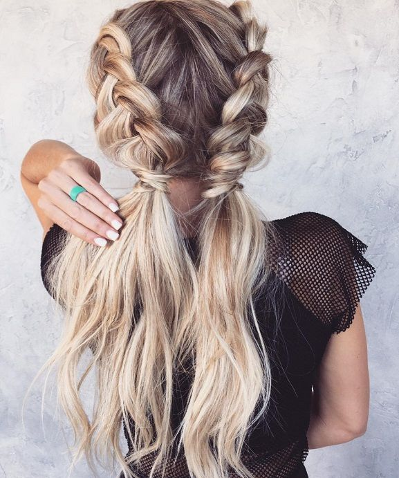 Double Dutch Braided Hairstyle Ideas Braided Hairstyles Easy Short Hair Tutorial Dutch Braid Hairstyles