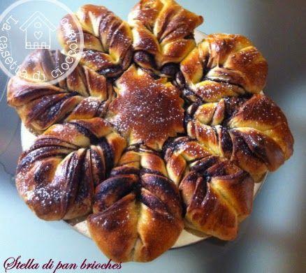 la casetta di cioccolato: Stella di Natale di pan brioches
