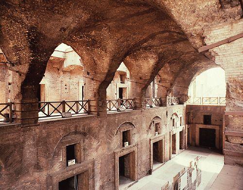 Interior of the great hall, Markets of Trajan,  Rome, Italy, ca. 100–112 CE.