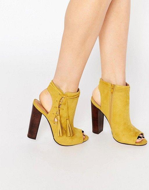 ASOS | ASOS ENCOURAGE Tassel Lace Up Shoe Boots