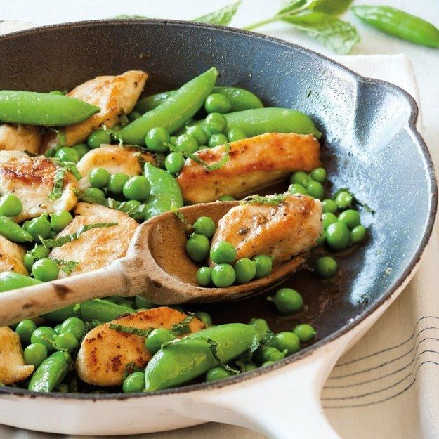 Sautéed Chicken Tenders with Peas and Mint | 27 Delicious Paleo Recipes To Make This Summer