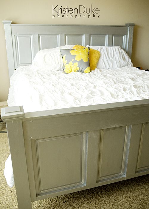 Project directions for making this beautiful bed (headboard and footboard).