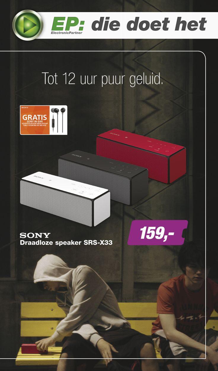 Week 37 van onze spectaculaire E-Poster is online! Met in de actie van deze week: Sony Draadloze speaker SRS-X33! (2/2)