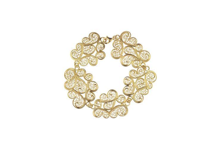 Cloud filigree bracelet   Material: sterling silver, vermeil