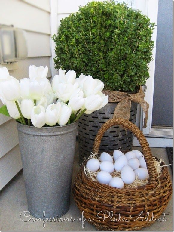 123 best easter outdoor decor images on pinterest easter for Easter decorations ideas for the home
