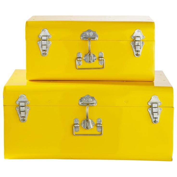 Set di 2 bauli gialli