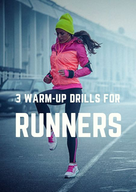 The purpose of warming up for any run includes preparing you physiologically for the demands of that particular workout, minimizing the risk of injury, and helping with range of motion and running form. 3 Warm-Up Drills for Runners