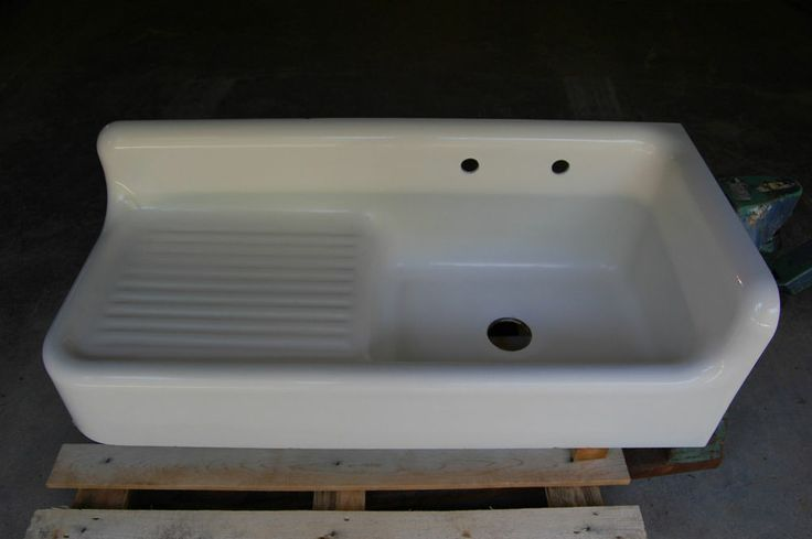 Corner Apron Sink : ... Vintage Old Cast Iron Porcelain Corner Farm Sink w/ Apron Dated 1931