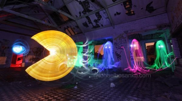 Pac-Man Lights Up The Night