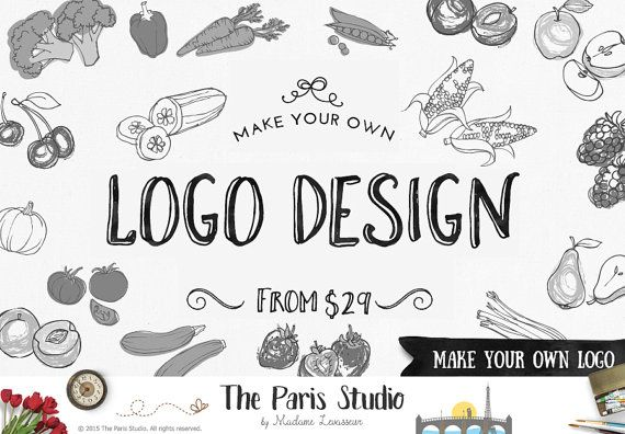 NON Premade Logo Design Make Your Own Logo Design Blog Logo Website Logo Vintage