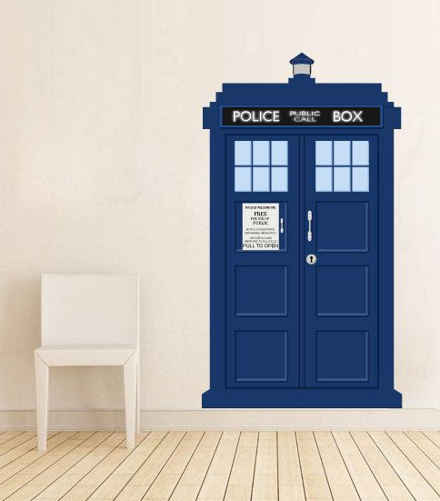 doctor who tardis police call box vinyl wall decal by decalsticker