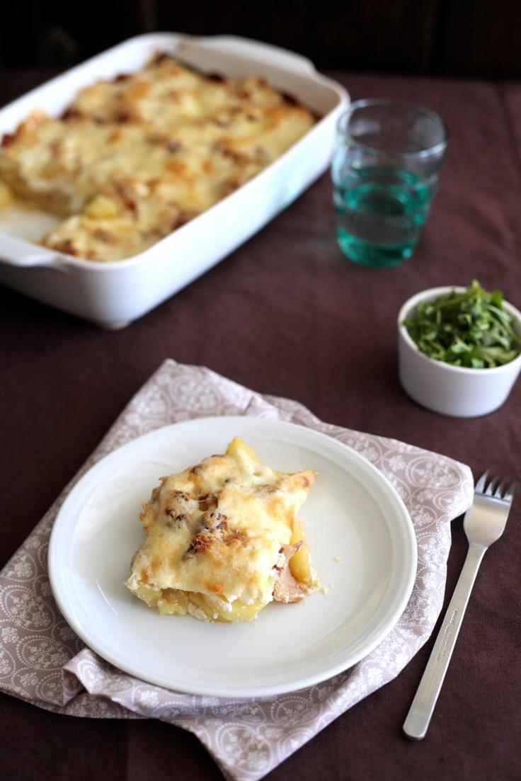 Csibe: Fokhagymás tejfölben sült krumpli