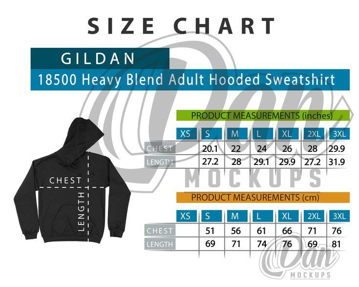 Gildan Tee Shirt Size Chart