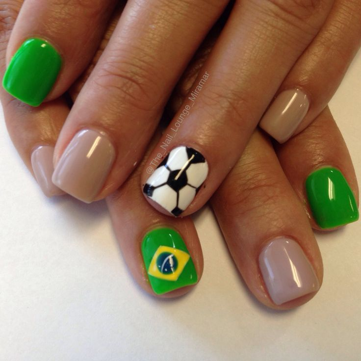 2014 World Cup brasil soccer nail art design - Best 25+ Soccer Nails Ideas On Pinterest Sports Nail Art
