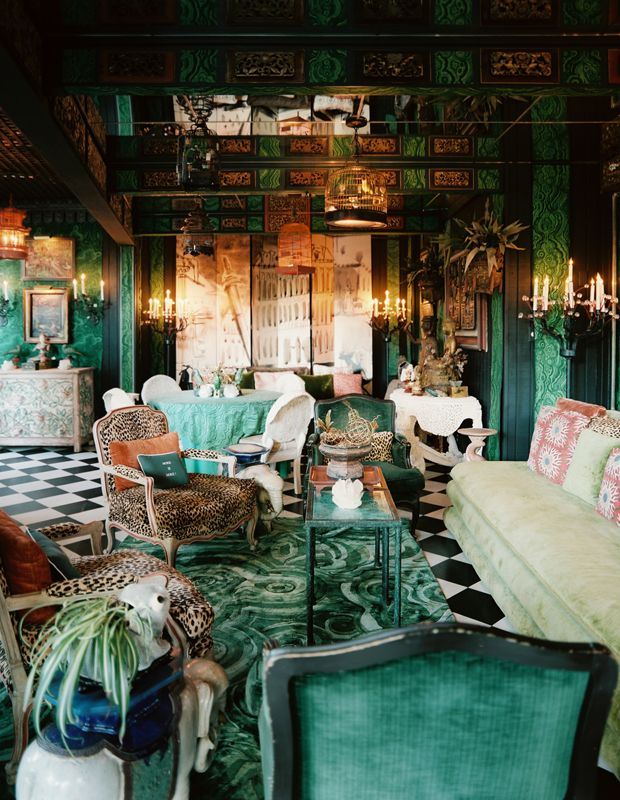 This speaks to my soul.: Emeralds, Lonni Magazines, Living Rooms, Colors, Green, Interiors Design, Animal Prints, Interiordesign, Tony Duquette