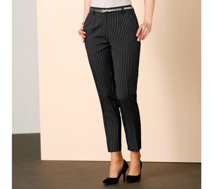 7/8 pruhované nohavice sa záševkami | blancheporte.sk #blancheporte #blancheporteSK #blancheporte_sk #autumn #fall #jesen #nohavice