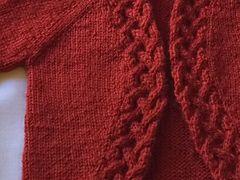 Rhun baby cardigan  knitting pattern