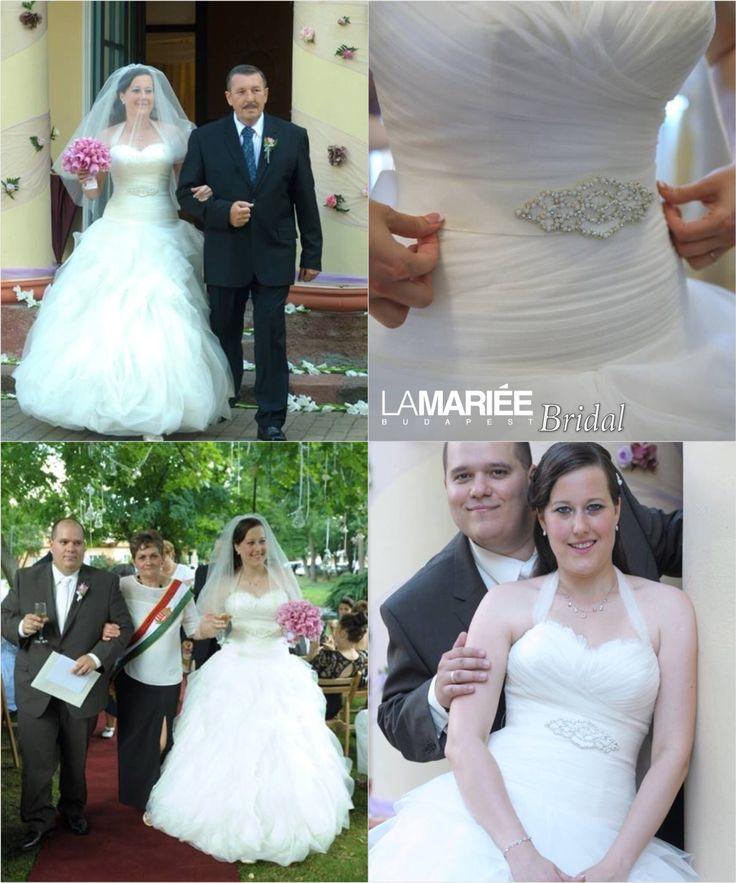 Fruzsina bride by La Mariée Budapest bridal   #Benicarlo dress by Pronovias
