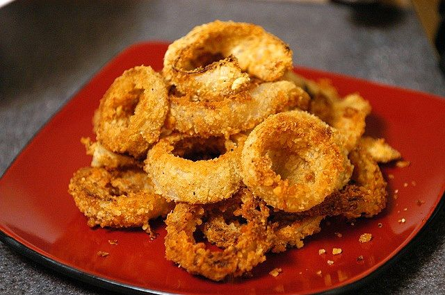 Oven Baked Onion Rings-Just as good as deep fried and SO much better for you!