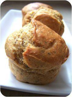 Muffin santé au citron et aux graines de pavot
