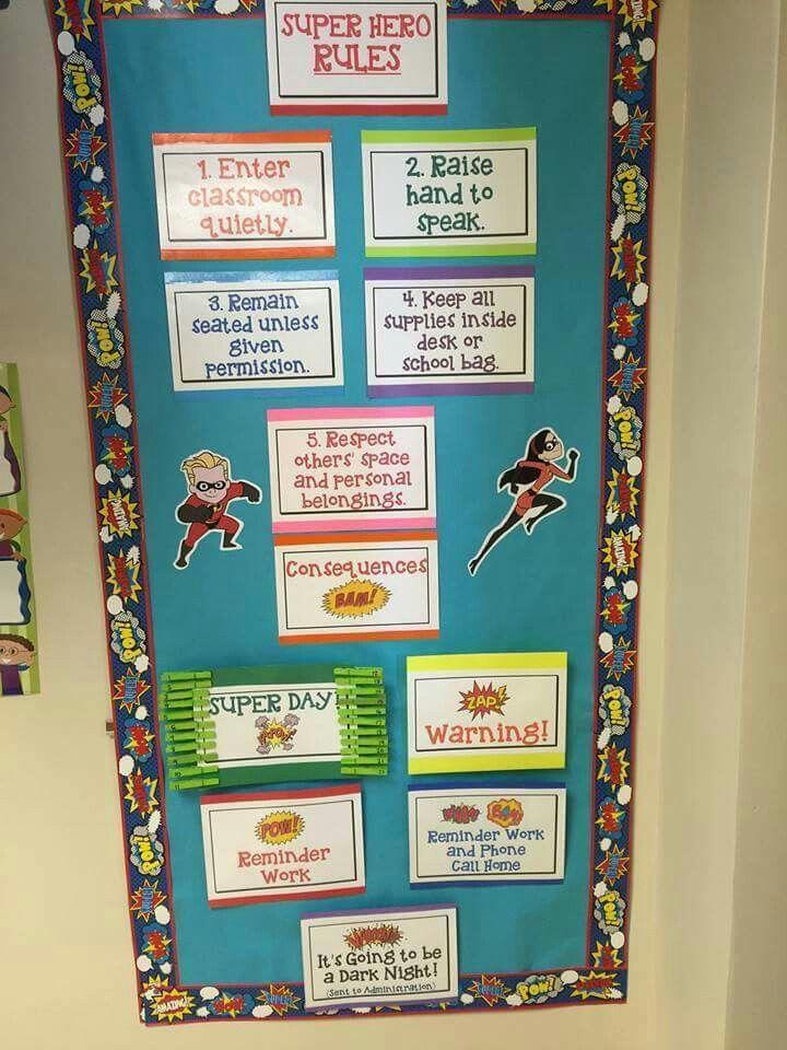 Marvel Classroom Decor ~ Best superhero rules ideas only on pinterest