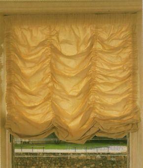 Estores austriacos o venecianos. Una forma de ahorrar y decorar tu casa es confeccionar tus propias cortinas o estores. El estor austriaco o veneciano,