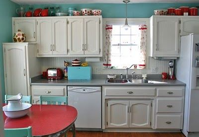 Red And Turquoise Kitchen Accessories Dream House