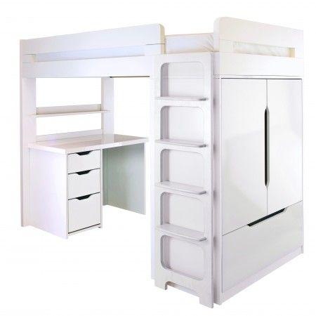 Farringdon High Sleeper With Desk   Storage & Sleepover Beds for Children - Boys & Girls Storage Beds   ASPACE