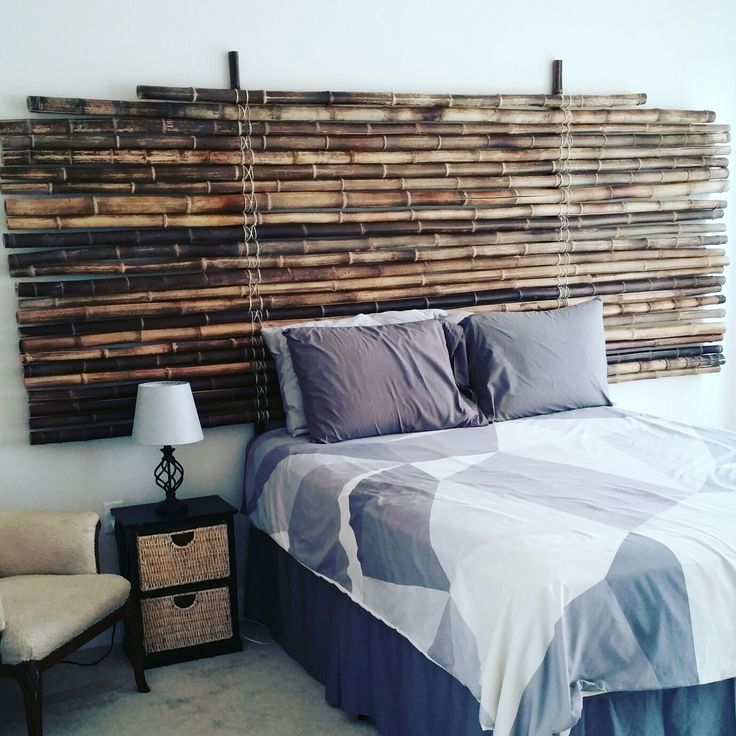 Built my bamboo headboard More