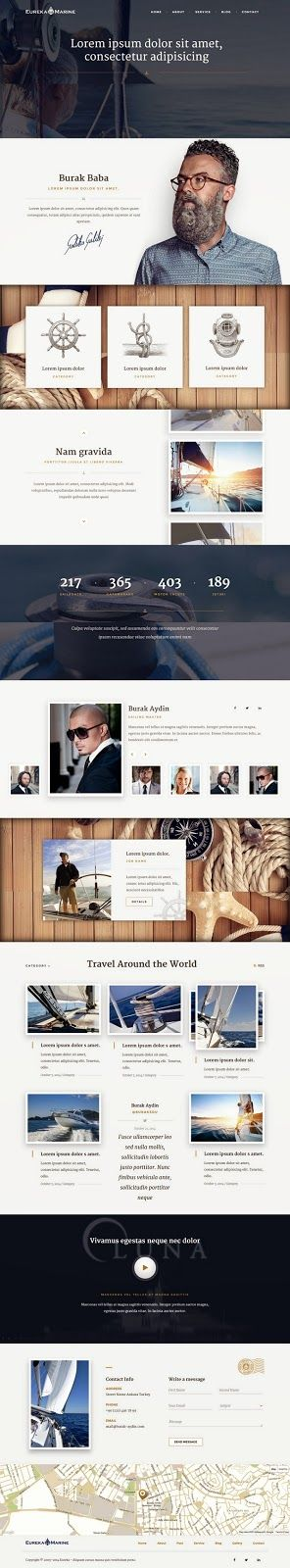 Premium Luxury Lifestyle HTML 5 #Template #blog #corporate #website