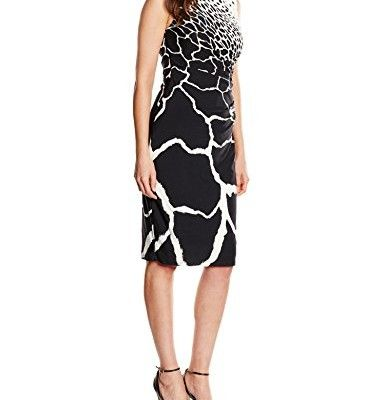 Gina-Bacconi-Damen-Kleid-Monochrome-Print-Jersey-0