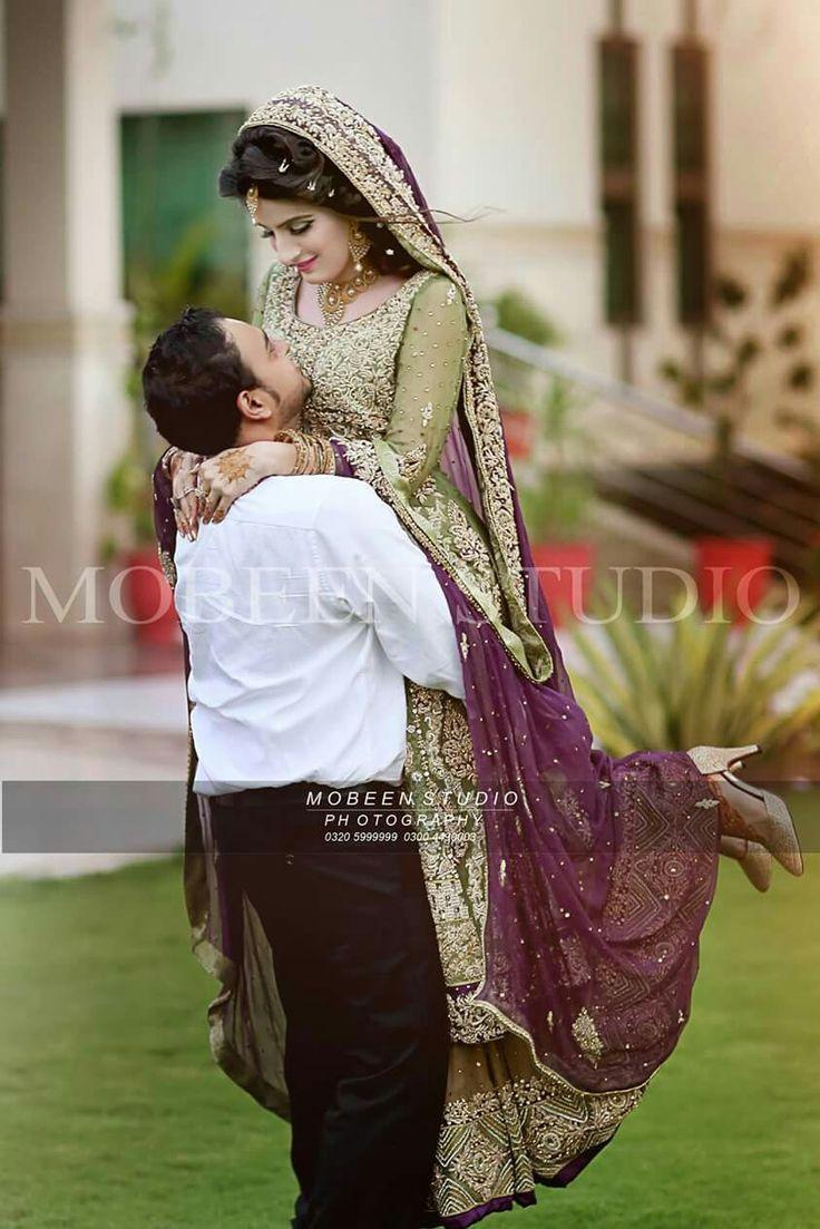 Pakistani Bride And Groom ♡ ❤ ♡ Pakistani Wedding Dress, Pakistani Style Follow me here MrZeshan Sadiq