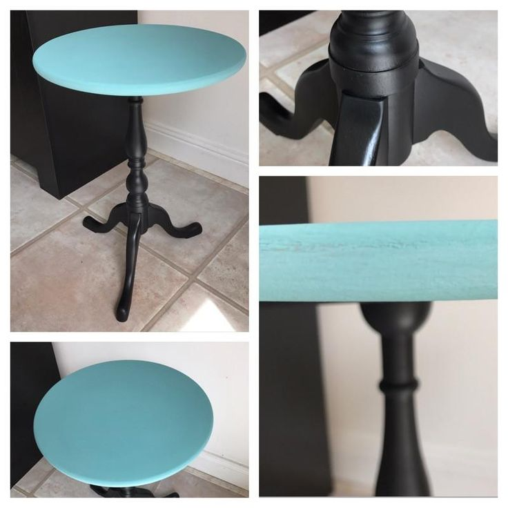 Beautiful Side Table Upcycled using Dulux Satinwood & Annie Sloane Chalk Paint