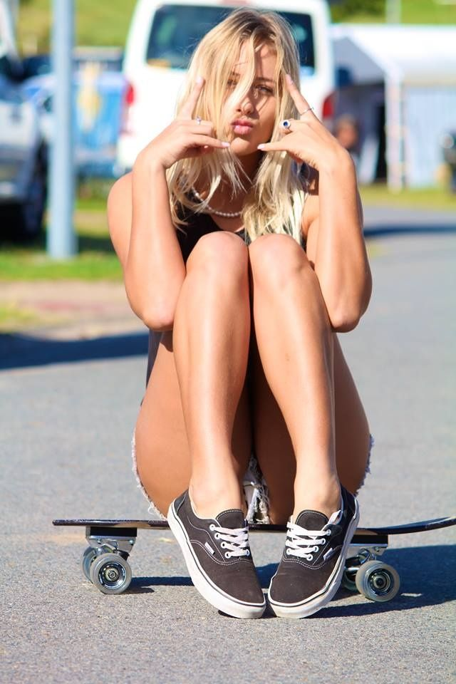 Sexy skateboard girl