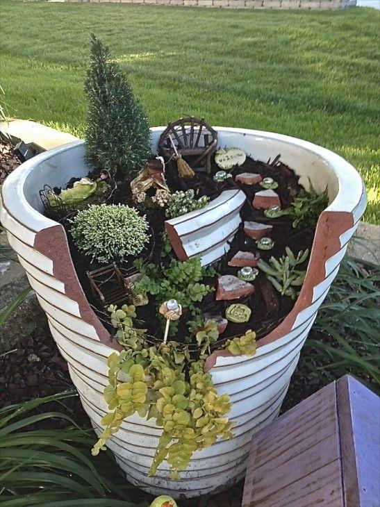 132 best broken clay pot garden images on pinterest landscaping penthouse suite broken pot fairy garden workwithnaturefo