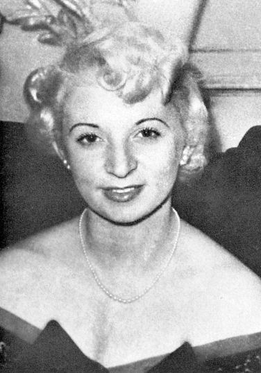 Blonde pub hostess Ruth Ellis, who shot and killed her lover over jealousy and became the last woman executed in England on July 13, 1955.