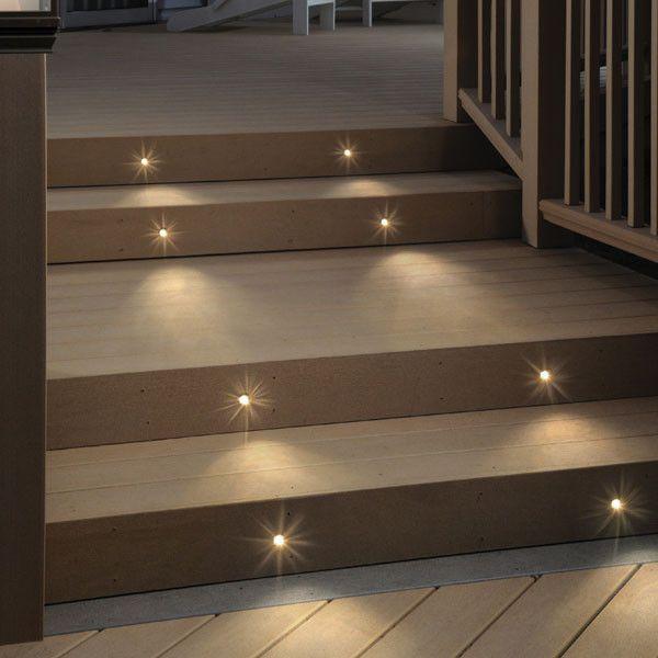 Recessed Led Riser Light By Deckorators Stair Lights Indoor Step Lighting Deck Step Lights