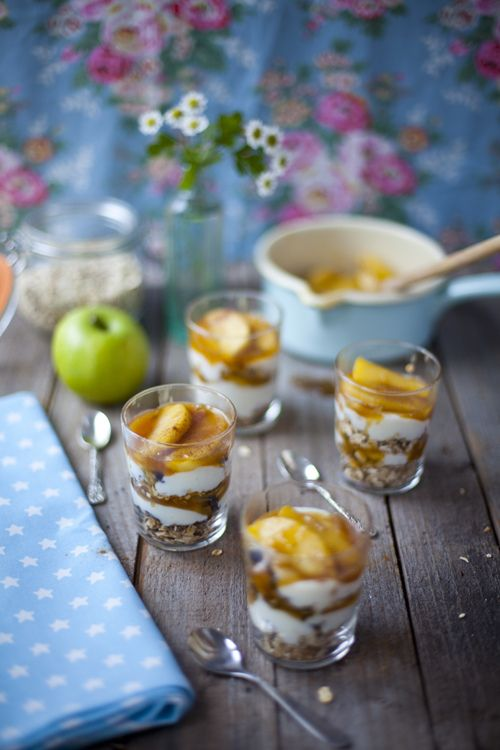Caramel Apple Granola Pots... A showstopper of a breakfast if you are entertaining guests. | DonalSkehan.com