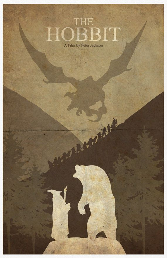 The Hobbit Vintage Poster 11X17 Print by Posterinspired on Etsy