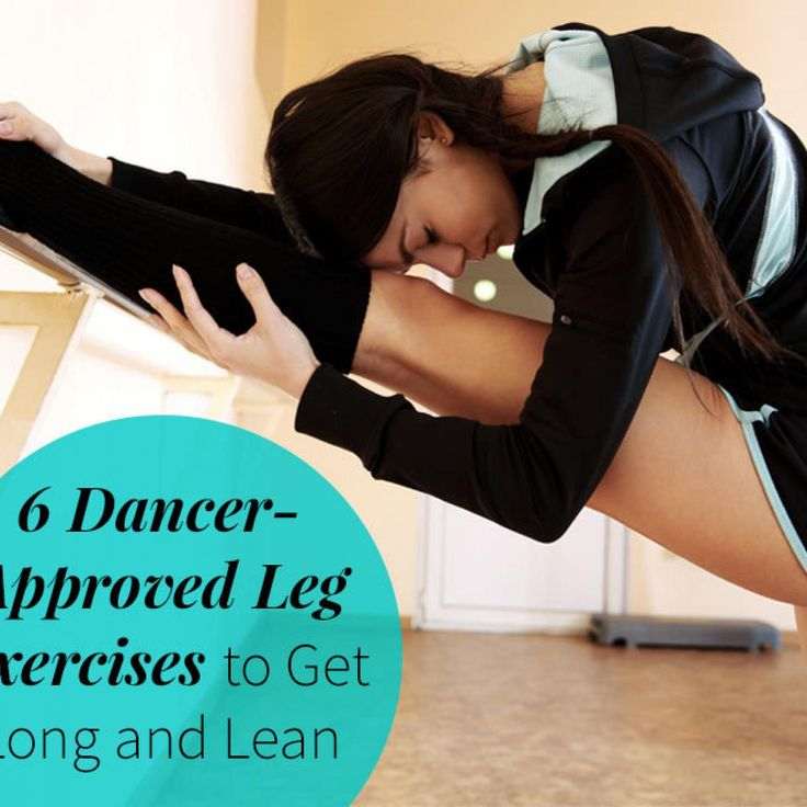 Let's Get Leggy Looking to add a little grace and poise to your lower-body routine? These six leg exercises do just that, while shedding fat from your inner thighs and lifting your glutes. Master these moves at home—no equipment needed—and get ready to show off some sexy stems come spring. • 	6 Dancer-Approved Leg Exercises • 	13 Pilates Moves for Lean Legs • 	Sleeker Thighs in 3 Moves